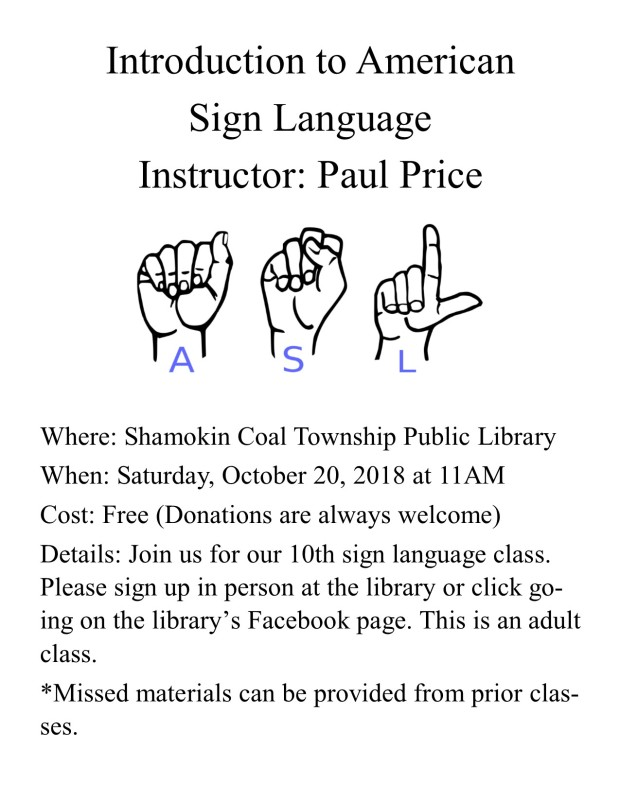 Sign Language Flyer