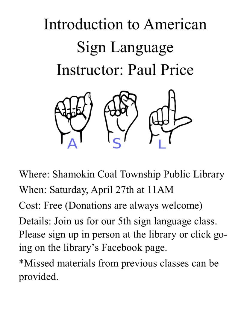 Sign Language Flyer