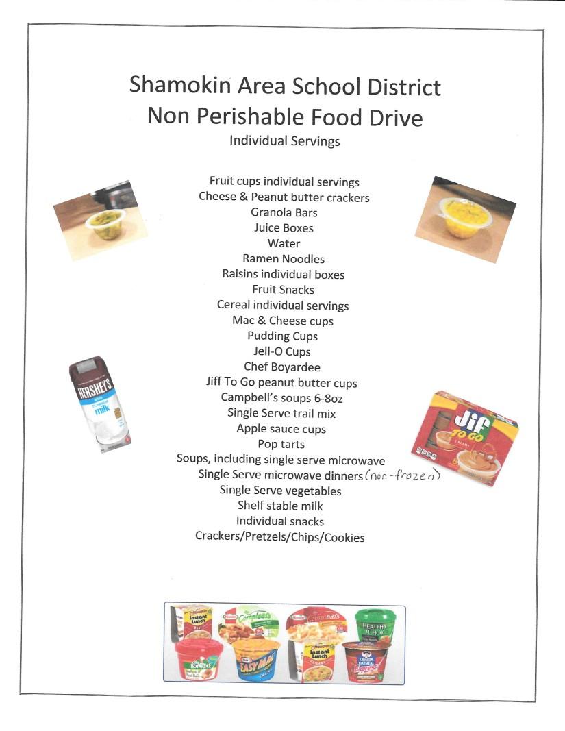 BackPack Food List